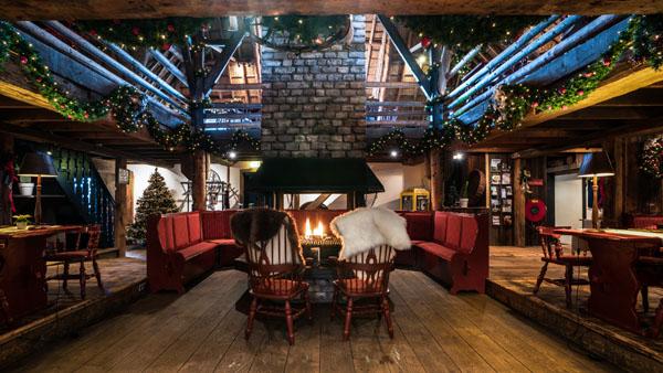 Landhuis decoratie kerst sfeervol